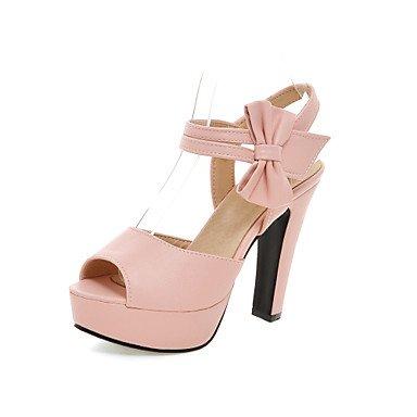 LvYuan Bureau & Travail Habillé Décontracté-Noir Rose Violet Beige-Gros Talon-club de Chaussures-Sandales-Polyuréthane Pink