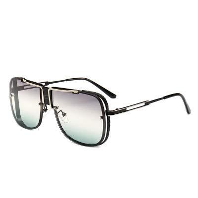 LUXIAOYU Explosive Pilot Männliche Sonnenbrille Europäische und Amerikanische Straße Schießen Moderne Retro Frosch Spiegel