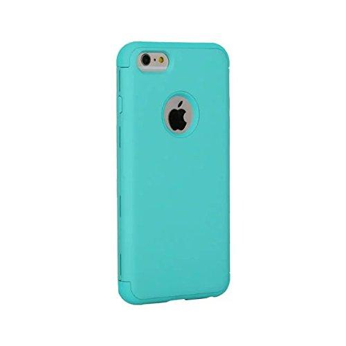 iPhone 6 Coque,iPhone 6S Coque,Lantier 3 en 1 Combo Slim Mat givré mat Finition Design Shockproof hybride double couche de couverture de cas dur pour Apple iPhone 6/6S 4.7 inch Rouge+Noir Mint Green