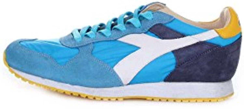DIADORA HERITAGE 201.157083 scarpe da ginnastica Uomo CAMOSCIO E E E TELA AZZURRO AZZURRO 44 | Clienti In Primo Luogo  1a7b0a