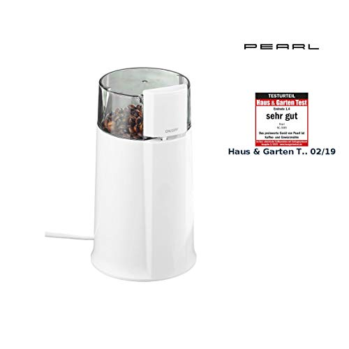 PEARL Mahlmaschine: Elektrische Kaffeemühle MH-20 mit Schlagmahlwerk, 160 Watt, 8 Tassen (Küchenmühle)