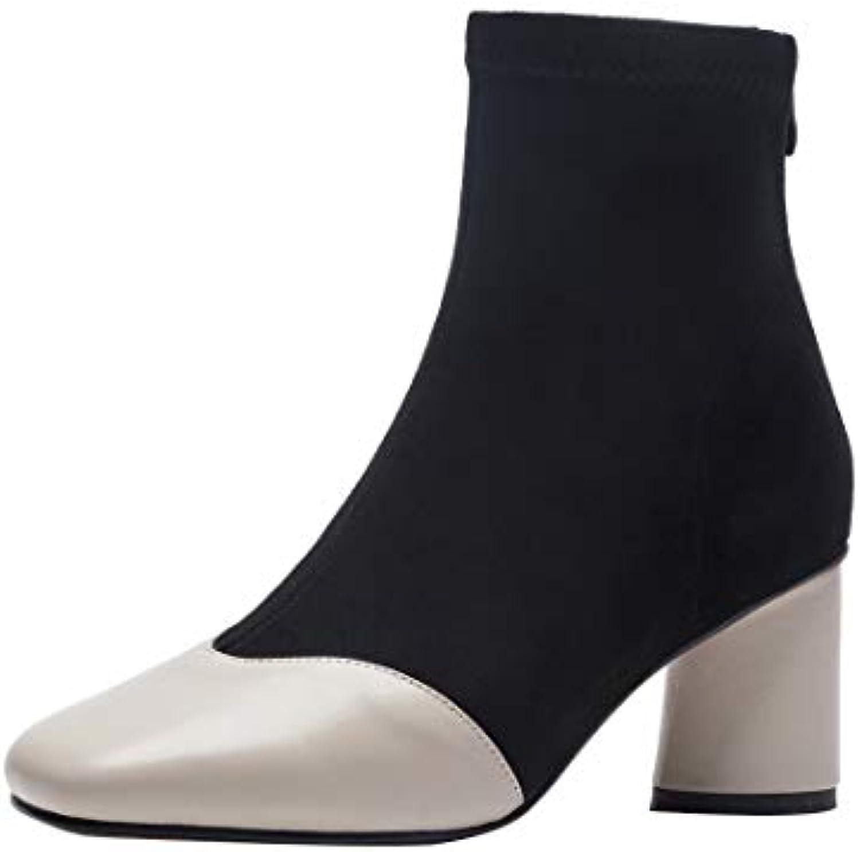 MAYPIE Donna Donna Donna Toappro Leather Cerniera Tacco a Blocco Stivali | Buona Reputazione Over The World  | Maschio/Ragazze Scarpa  660db8