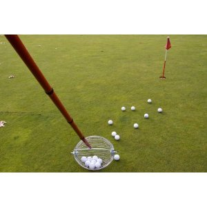 Golf Ball Broom XXL - Collects 60 Golf Balls - -10 times Quicker than a (10 Pickup)