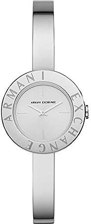 ساعة ارماني اكسجينج جويليا للنساء مينا فضي ستانلس ستيل انالوج - AX5904