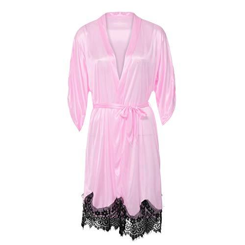 Sexy Kleid, Damen, Pink Dessous-Set, sexy Nachtwäsche für Frauen, lang, Unterwäsche für Frauen, nahtlos