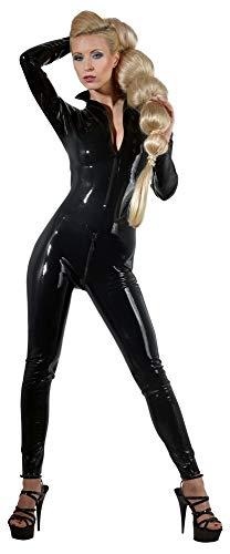 The Latex Collection Damen 29000681011 Latex Catsuit, schwarz, XS, (Nero 001), No Aplica (Herstellergröße: X-Small)