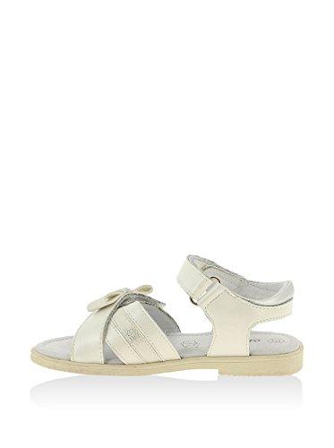 Sandale en cuir pour fille avec lacet blanc - blanc