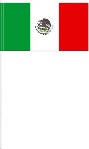 10 Fähnchen * MEXIKO * als Deko für Mottoparty oder Länder-Party // Mixico Mittelamerika Flaggen Fahnen Papierfahnen flag