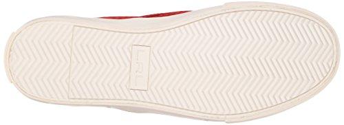 Lauren Ralph Lauren Cedar Fashion Sneaker Racing Red Diamond Grid Nubuck