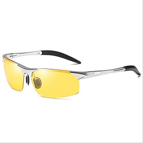 Delilya Polarisierte Sonnenbrille, Mens Black Sunglasses Womens Sunglasses Mirrored Lens, UV400 Protection,Brass