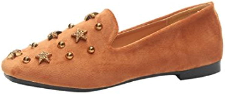 QinMM Mocassins Ballerines Femmes Rétro, Rivets Étoiles Daim Chaussures Décontractées Plates Chaussures Décontractées Chaussures  s...B07CS5KVJHParent b68674