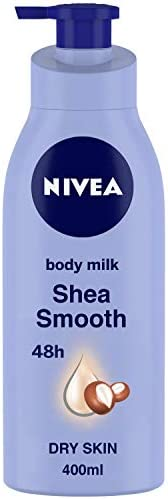 NIVEA Body Lotion for Dry Skin, Shea Smooth, with Shea Butter, For Men & Women, 40