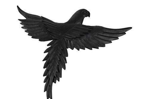 TS Wand-deko Gardendeco Papagei Iron, pulverbeschichtet, schwarz, 42 x 2 x 37 cm, 134418