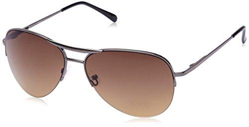 Fastrack Black Aviator Sunglasses (Silver and Black) (M083BR2F) image