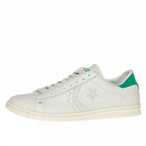 Converse Pro Leather Lp Ox, A Collo Basso Uomo, Bianco (White Dust/B.Green), 42.5 EU