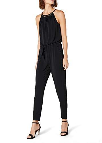 ESPRIT Collection Damen Jumpsuits 057EO1L002 Schwarz (Black 001) 40