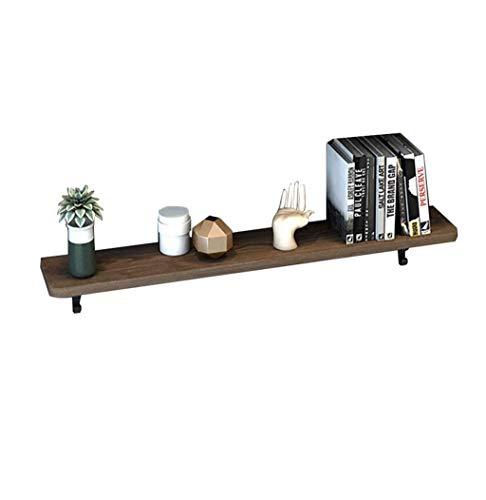 GWFVA Wandregal Holz Metall Halterung für Küche Wohnzimmer Shop Wand montiert hängen Lagerregal Bücherregal Dekorationen Display Einheit Rahmen Vintage (Größe: 70 Mal; 20 Mal; 3 cm) -
