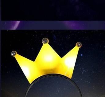 Preisvergleich Produktbild süß leuchtende Stirnband Krone Blink Haarreifen Teufelshörner Schleife Haarschmuck für Party Deko (Gelb)