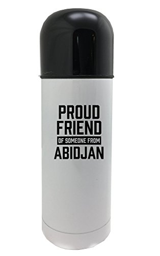 Proud friend of someone from Abidjan 350ml white thermos