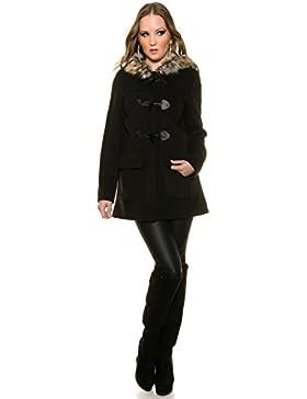 Bellerfur Chaquetas de piel de conejo verdadero natural de las mujeres abrigos de invierno con la mitad de la...