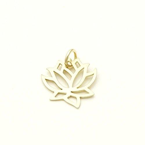 Echt Gold 333/- Lotus Blüte Anhänger - Goldschmuck