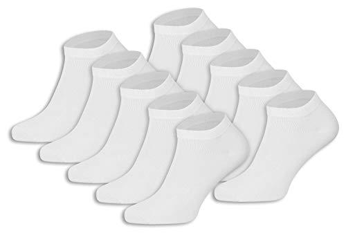 Burnell & Son 10 Paar Sneaker Socken für Damen & Herren | atmungsaktiv & langlebig dank Verwendung feinster Garne | Größen 35-50 | verschiedene Farben