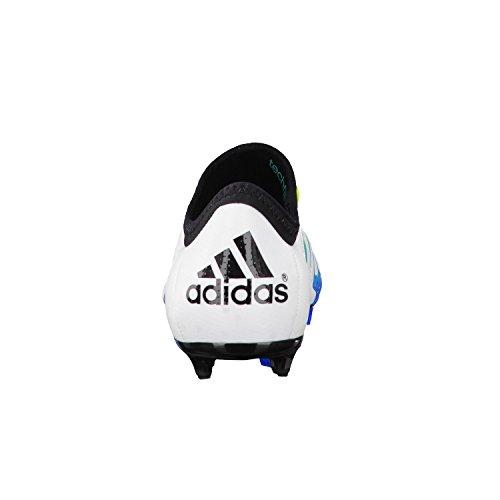 adidas X 15.1 Fg/Ag, Chaussures de Football Compétition Mixte Enfant, Mehrfarbig, 38 EU Blanc / Vert / Noir (Ftwbla / Seliso / Negbas)