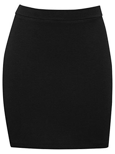 M&Co Teen Girls Light Stretch Comfort Plain Coloured Pull on Short Tube Skirt