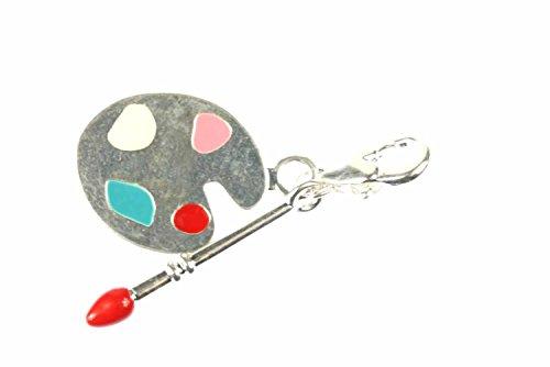 palette-de-couleurs-artiste-pinceau-charm-pendentif-bracelet-a-breloques-miniblings-charms-peintre
