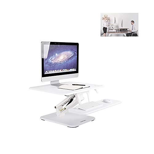 Zusammenklappbarer Laptop-Ständer, Tragbarer Laptop-Tisch, Abnehmbare Maus, Ergonomischer Laptop-Schreibtisch, TV-Bettablage (Color : White) (Zusammenklappbar Tv-ständer)