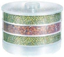 Kitchen Point Sprout Maker   Plastic Sprout Maker Box   Hygienic Sprout Maker with 4 Container   Organic Home Making Fresh Sprouts Beans for Living Healthy Life Sprout Maker 4 Bowl