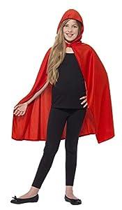 Smiffys-44560ML Capa con Capucha, Color Rojo, M a L-Edad 8-12 años (Smiffy