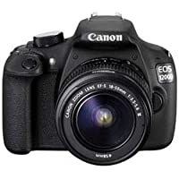 Canon EOS 1200D 18MP Digital SLR Camera (Black) + 18-55mm Lens + 55-250mm IS II Lens + 8GB Memory Card + Carry Bag