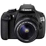 #6: Canon EOS 1200D 18MP Digital SLR Camera (Black) with 18-55mm and 55-250mm IS II Lens,8GB card and Carry Bag