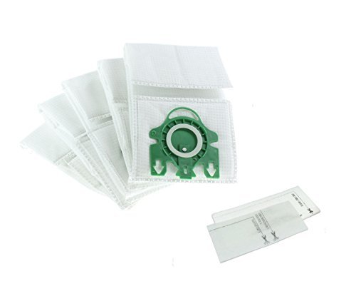 Invero® Ersatz Mikrofaser Staubsaugerbeutel Staub für Miele Typ U Aufrecht S700und Dynamic U1aufrecht Serie inkl. 5x Staubsaugerbeutel 1x Moto Filter und 1x Super Air Clean Filter -