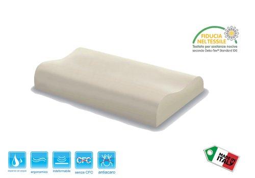 Cuscino Guanciale in memory foam Cervicale misura 67x42x12
