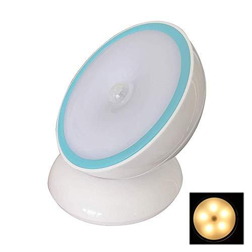 Luz de noche giratoria desmontable de 360 grados, función de detección del...