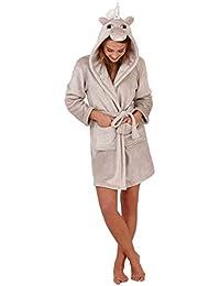 Lora Dora Womens Robe Luxury Fleece Dressing Gown Bathrobe 38c764f33