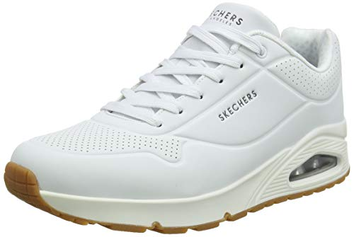 Skechers Men's Uno - Stand on Air Trainers, White (White Durabuck/Trim Wht), 8 UK (42 EU)
