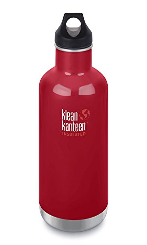 BPA freie Thermoskanne Vakuumisolierte Edelstahlflasche f/ür Outdoor Alpin Loacker Trinkflasche aus Edelstahl Plastik mit Bambus Kappe Wandern Sport