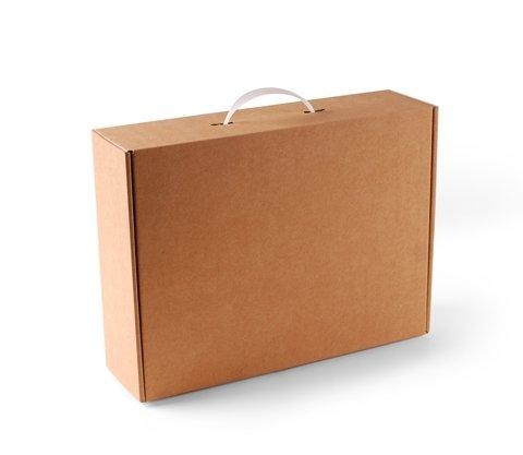 Selfpackaging Maleta cartón Color Kraft. Pack 10