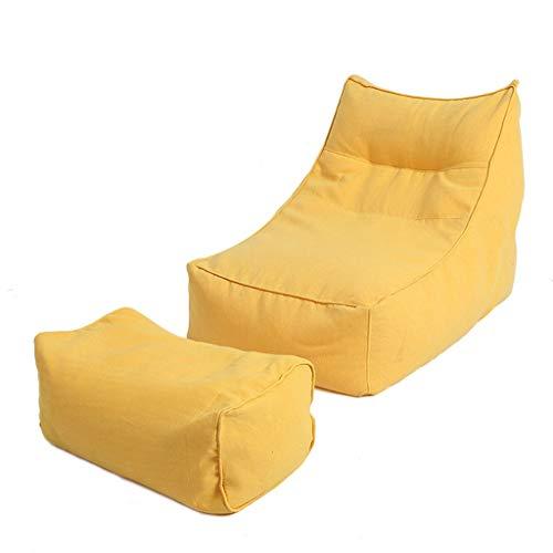 Canapés Pouf Poire Le Sofa Lavable Portatif De Bébé De Chaise De Câlin De Sacs De Haricot Badine des Meubles De Chambre À Coucher (Color : Yellow, Size : 105 * 80 * 66cm)