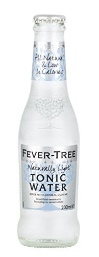 Fever-Tree - Naturally Light Tonic Water Erfrischungsgetränk Gin Vodka Cocktails Mischgetränk Longdrink - 12x0,2l inkl. Pfand