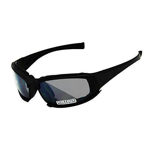 2858790df6 EnzoDate Polarized Daisy One X7 Army Sunglasses, Military Goggles 4 Lens Kit,  Men War
