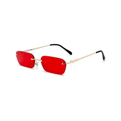 Kjwsbb randlose rechteck Sonnenbrille Frauen klare FarbeSommer zubehör Platz Sonnenbrille für männer klein
