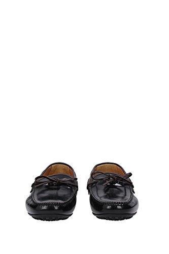 KUD757NEROMOROSPAZZOLATO1 Car Shoe Mocassins Homme Cuir Noir Noir