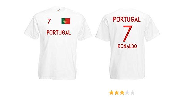 Portugal Ronaldo T-Shirt Trikot WM-2018 Look