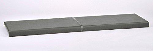 animal-design L Klemm-Kissen/Sitz-Kissen 115cm breit weich gepolstert - verrutscht Nicht - viele Farben, Farbe:grau