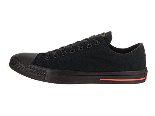 Converse Ctas Mono Ox 015490, Unisex - Erwachsene Sneaker Schwarz (Black/Black/Lava)