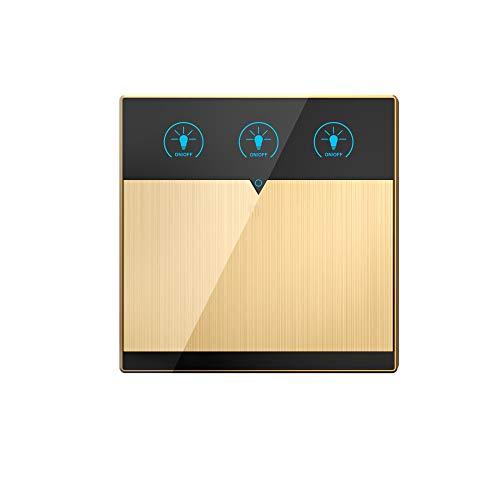 BSDK Interruptor de luz WiFi Inteligente, Panel de Interruptor de Pared táctil,...